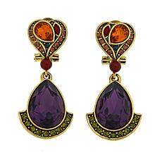 "Heidi Daus ""Gotta Love It"" Crystal Drop Earrings"