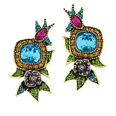 "Heidi Daus ""Gracious Garden"" Crystal Earrings"
