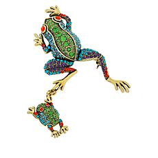 "Heidi Daus ""Hanging By My Toads"" Pavé Crystal Pin"