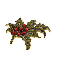 "Heidi Daus ""Happy Holly-Days"" Crystal Pin"
