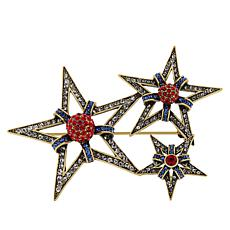 """Heidi Daus """"Hooray for the Red, White and Blue"""" Crystal Pin"""