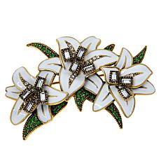 """Heidi Daus """"Hope, Purity and Peace"""" Crystal and Enamel Pin"""
