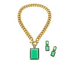 """Heidi Daus """"Hot Rocks"""" Pendant, Chain Necklace and Earrings Set"""