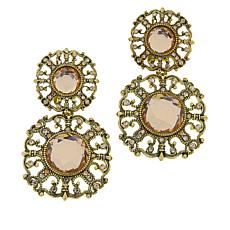"Heidi Daus ""How Suite It Is"" Crystal Drop Earrings"