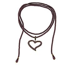 "Heidi Daus ""I'll Loop You In"" Enhancer Pendant and  Lariat Necklace"