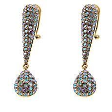 "Heidi Daus ""Infinite Glamour"" Pavé Crystal Drop Earrings"