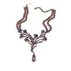 "Heidi Daus ""Innocence and Grace"" 2-Strand Crystal Drop Necklace"