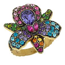 "Heidi Daus ""Island Bloom"" Crystal-Accented Ring"