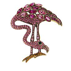 "Heidi Daus ""Island of Beauty"" Crystal Flamingo Pin"