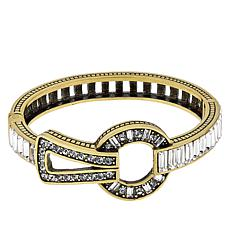"Heidi Daus ""It Suits You"" Hinged Crystal Bangle Bracelet"