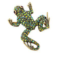 "Heidi Daus ""Kissing Frog"" Pavé Crystal Pin"