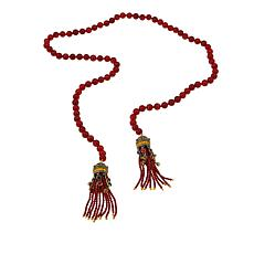 "Heidi Daus ""Lavish Lariat"" 38"" Beaded Lariat Necklace"