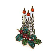 "Heidi Daus ""Light the Way"" Enamel and Crystal Pin"