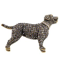 "Heidi Daus ""Lovely Labrador"" Crystal Pin"