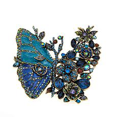"Heidi Daus ""Madam Magnificence"" Enamel and Crystal Pin"
