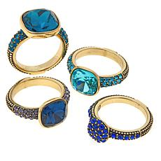 "Heidi Daus ""Master Pieces"" 4-piece Crystal Ring Set"