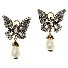 "Heidi Daus ""Monarch Magic"" Butterfly Earrings"