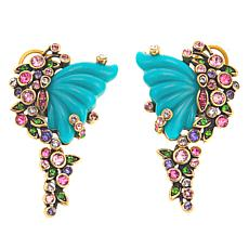 """Heidi Daus """"Monarch Magnificence"""" Crystal-Accented Drop Earrings"""