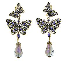 "Heidi Daus ""Mosaic Monarch"" Crystal Drop Earrings"