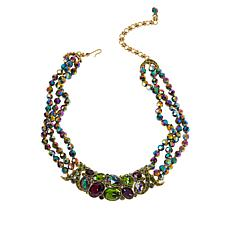 Heidi Daus Multi-Color Crystal X-Design Collar Necklace