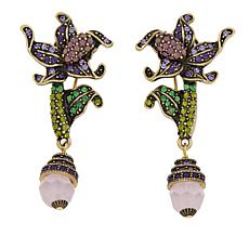 "Heidi Daus ""My Iris Garden"" Crystal-Accented Drop Earrings"