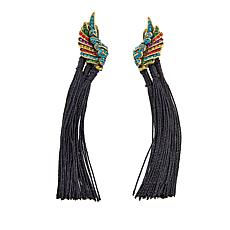 "Heidi Daus ""Mythical Mystique"" Tassel Drop Earrings"