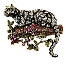 "Heidi Daus ""Natural Instinct"" Enamel and Crystal Pin"