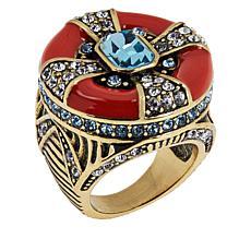 "Heidi Daus ""Newport Chic II"" Crystal and Enamel Ring"