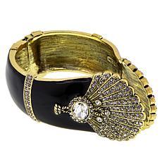 "Heidi Daus ""Noir Mystique"" Crystal and Enamel Cuff Bracelet"