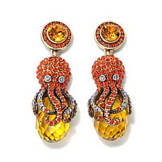 "Heidi Daus ""Octo-Pretty"" Crystal-Accented Drop Earrings"