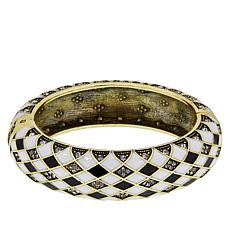 "Heidi Daus ""Oh So Sophisticated"" Enamel and Crystal Bangle Bracelet"