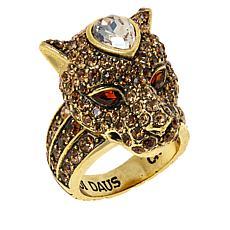 "Heidi Daus ""On the Prowl"" Crystal Ring"