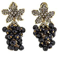 "Heidi Daus ""On The Vine"" Crystal-Accented Drop Earrings"