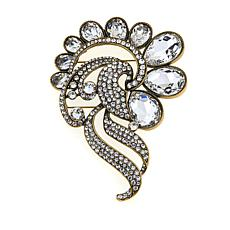 "Heidi Daus ""Over the Top"" Crystal Coat Pin"