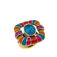 "Heidi Daus ""Park Avenue South"" Crystal and Enamel Ring"