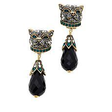 Heidi Daus Purr-fection Crystal Bead Drop Earrings
