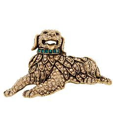"Heidi Daus ""Ravishing Retriever"" Crystal Pin"