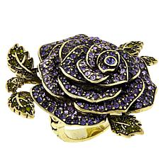 "Heidi Daus ""Ravishing Rose"" Crystal Ring"
