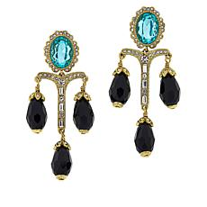 "Heidi Daus ""Regal Elegance"" Crystal Drop Earrings"