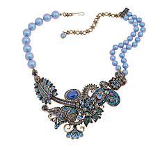 "Heidi Daus ""Scintillating Sensation"" Crystal Bib Drop Necklace"