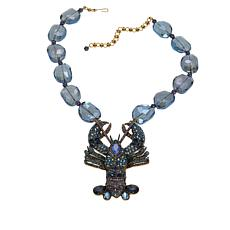 "Heidi Daus ""Shellfishly Stunning"" Beaded Crystal Drop Necklace"