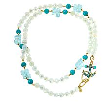 "Heidi Daus ""Ship Bottom"" 48"" Anchor Clasp Beaded Necklace"
