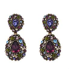 "Heidi Daus ""Simply Stunning"" Crystal Drop Earrings"