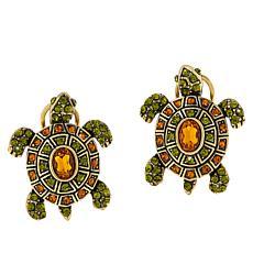 """Heidi Daus """"Slowpoke"""" Crystal Turtle-Design Earrings"""