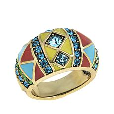 "Heidi Daus ""Southwest Twist"" Crystal and Enamel Dome Ring"