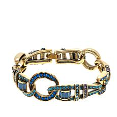 "Heidi Daus ""Sparkling Attraction"" Crystal Link Bracelet"