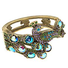 "Heidi Daus ""Sparkling Showoff"" Crystal Hinged Bangle Bracelet"