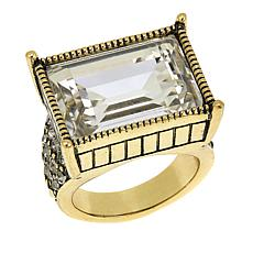 "Heidi Daus ""Sparkling Solution"" Baguette Ring"
