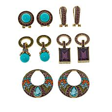 "Heidi Daus ""Sparkling Solution"" Crystal-Accented Earring Set"