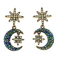 "Heidi Daus ""Star Light, Star Bright"" Crystal Drop Earrings"